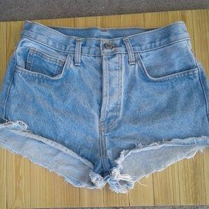 John galt high waist jean shorts brandy melville